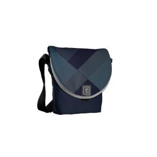 Modern Geometric blocks messenger bag, purse mini Messenger Bags