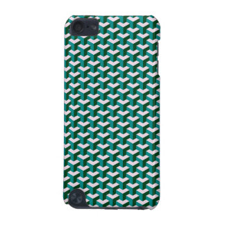 Modern Geometric Blue Blocks Pattern iPod Touch 5G Case