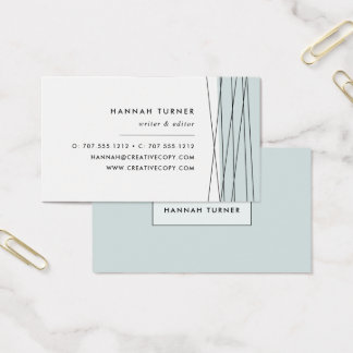 Modern Geometric Business Cards   Grayed Jade