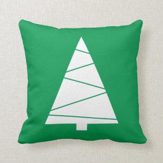 Modern Geometric Christmas Tree Holiday Custom Cushion