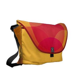 Modern Geometric circles messenger bag, purse Commuter Bags