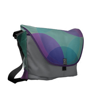 Modern Geometric circles messenger bag, purse Courier Bags