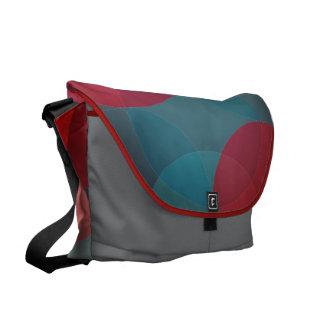 Modern Geometric circles messenger bag, purse Messenger Bags