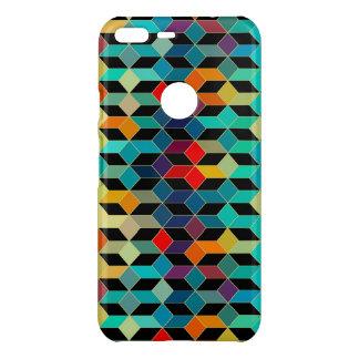 Modern Geometric Colorful Cubes Pattern 1a Uncommon Google Pixel XL Case