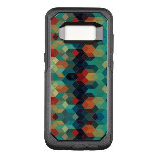 Modern Geometric Colorful Cubes Pattern OtterBox Commuter Samsung Galaxy S8 Case