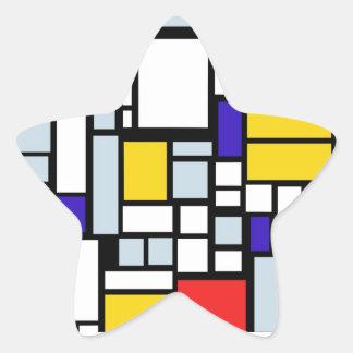 Modern Geometric Design, Primary Colors Stickers