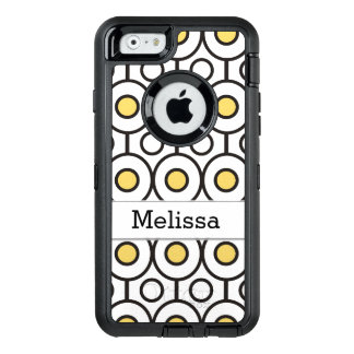 Modern Geometric Dot Pattern Personalized OtterBox Defender iPhone Case