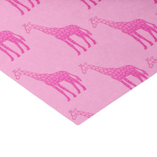 Modern Geometric Giraffe, Fuchsia and Light Pink Tissue Paper
