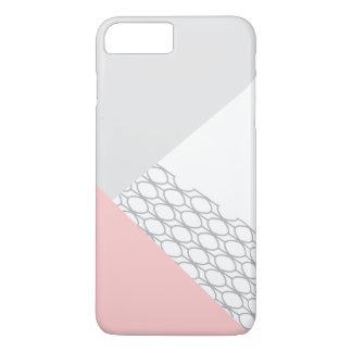 Modern Geometric Grey Coral iPhone 7 Plus Case
