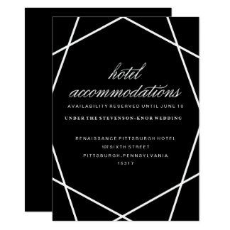 Modern Geometric Hotel Card 11 Cm X 16 Cm Invitation Card