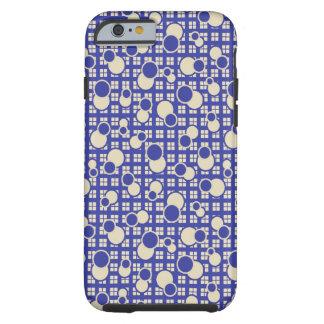 Modern Geometric Pattern Blue iPhone Case
