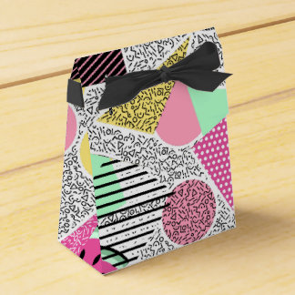 Modern geometric pattern Memphis patterns inspired Favour Box