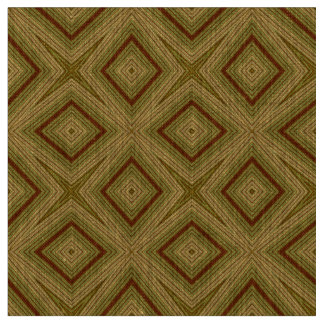 Modern geometric pattern olive green natural linen fabric