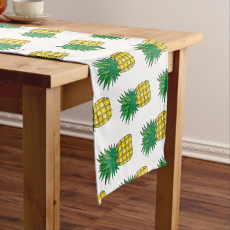 Modern Geometric Pineapple Pattern Short Table Runner