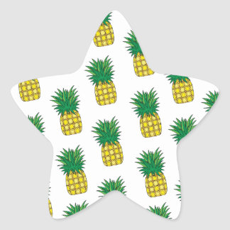 Modern Geometric Pineapple Pattern Star Sticker