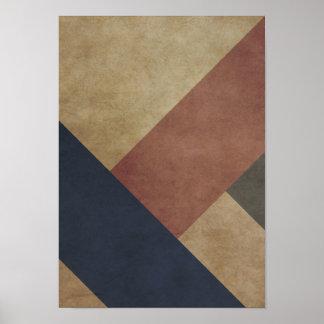 Modern geometric poster