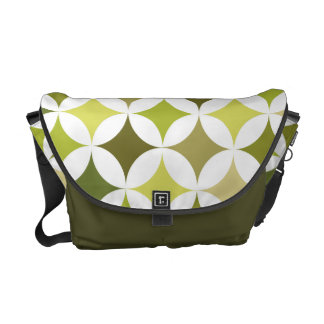 Modern Geometric Retro Olive Green Commuter Bags