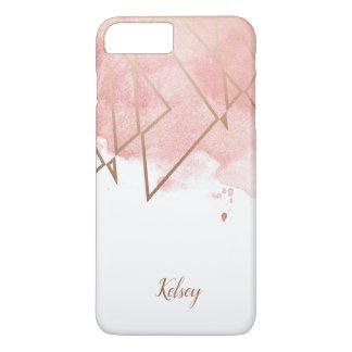 Modern Geometric Rose Gold iPhone Case