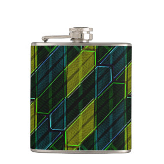 Modern Geometric Seamless Pattern Hip Flask