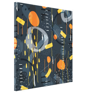 Modern Geometric Shapes Composition Abstract Art Canvas Print