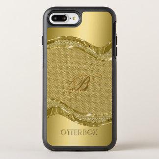 Modern Geometric Shiny Gold Diamonds Texture OtterBox Symmetry iPhone 8 Plus/7 Plus Case