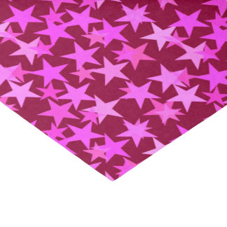 Modern Geometric Stars, Burgundy Wine and Pink Tissue Paper