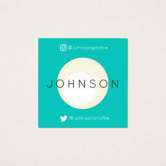 Modern geometric style with QR code Square Business Card