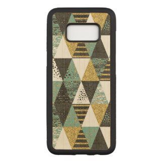 Modern Geometric Textured Triangles Pattern Carved Samsung Galaxy S8 Case