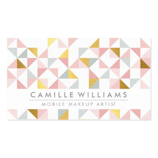 MODERN GEOMETRIC triangle aztec pattern coral gray Pack Of Standard Business Cards