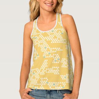 Modern Geometric Triangle - Yellow - Women's Tank