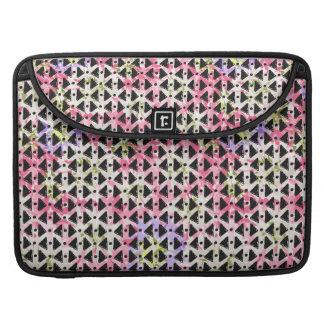Modern geometric weave pink mauve green black sleeve for MacBooks