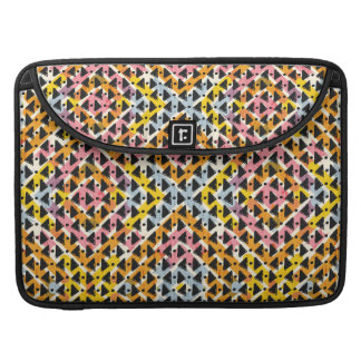 Modern geometric weave pink yellow blue black sleeve for MacBooks