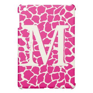 Modern Giraffe Pattern Monogam iPad Mini iPad Mini Cover