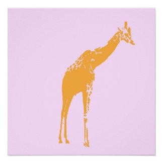 Modern Giraffe Poster Decor