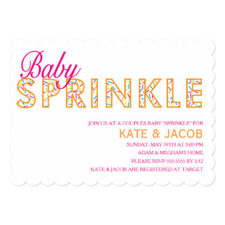 Modern Girl Baby Sprinkle Invitation