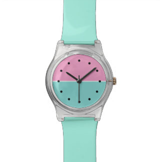 Modern Girls Turquoise And Pink Watch