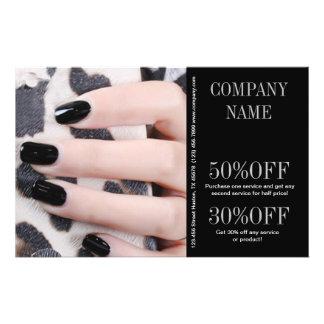 modern girly beauty fashion nail salon nail artist 14 cm x 21.5 cm flyer