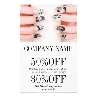modern girly beauty nail artist nail salon 14 cm x 21.5 cm flyer