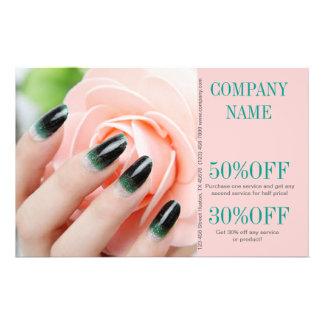modern girly beauty nail artist nail salon flyer design