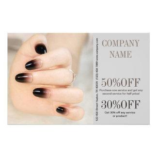 modern girly beauty ombre nail artist nail salon 14 cm x 21.5 cm flyer