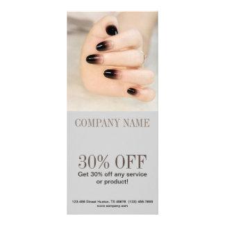 modern girly beauty ombre nail artist nail salon rack card