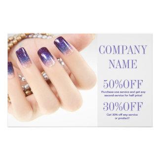 modern girly beauty onbre nail artist nail salon flyer