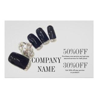 modern girly beauty salon fashion nail artist flyer design