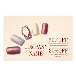 modern girly beauty salon nail artist flyer design