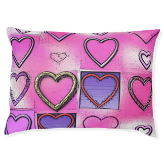 Modern Girly Bright Pink Heart Collage