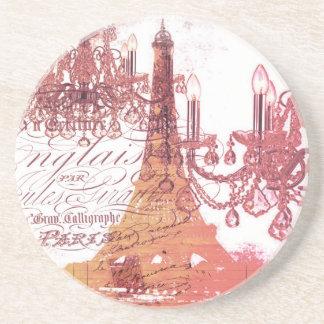 modern girly chandelier vintage paris eiffel tower coaster
