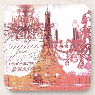 modern girly chandelier vintage paris eiffel tower coasters
