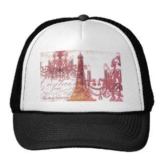 modern girly chandelier vintage paris eiffel tower mesh hat
