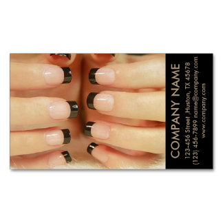 modern girly fashion beauty SPA nail salon Magnetic Business Cards