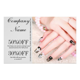 modern girly fashion beauty SPA salon nail salon Full Color Flyer